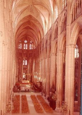 View of the nave, 1225-50