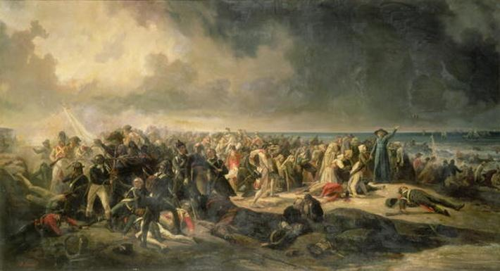 Scene of the Landing at Quiberon in 1795, 1850