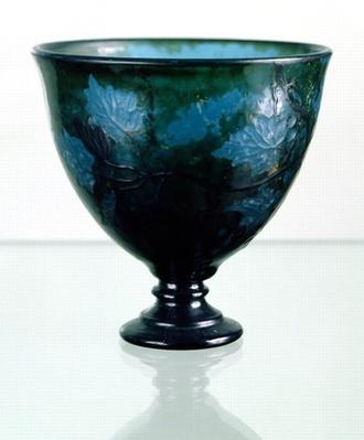 Crystal cup, 'Par une Telle Nuit', 1894