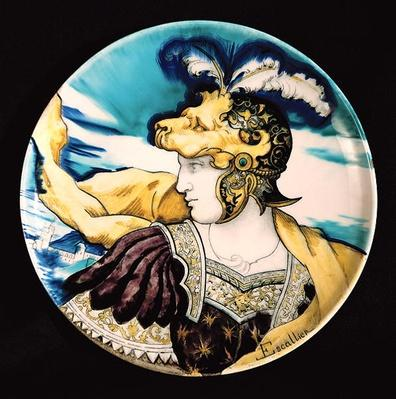 Sevres dish, after Giulio Romano