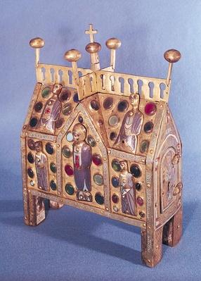 Reliquary chest in the form of a house, Limousin