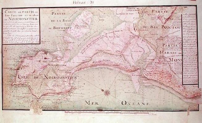 Map of Bas-Poitou and the Ile de Noirmoutier