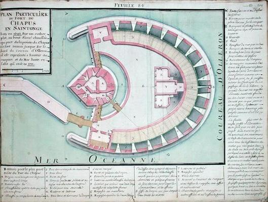 Atlas 131 F fol.84 Plan of the Chapus Fort, from 'Traite de Fortifications'