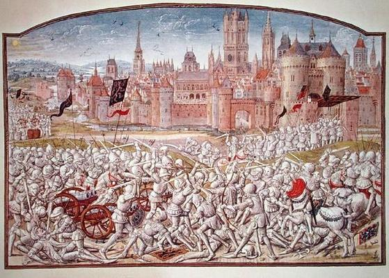 T.2 fol.287 Victory of the inhabitants of Ghent led by Philipp van Artevelde
