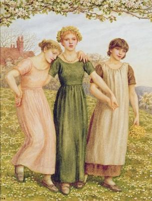 Three Young Girls, 19th century