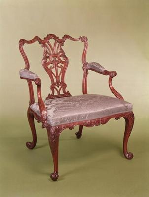 Armchair by Thomas Chippendale, c.1760