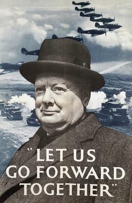 Propaganda poster inspired by Winston Churchill, World War II | World War II