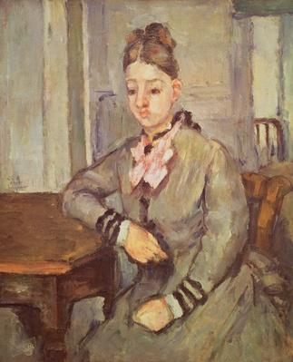 Madame Cezanne Leaning on a Table, 1873-77