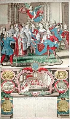 Calendar for 1716 depicting Louis XV