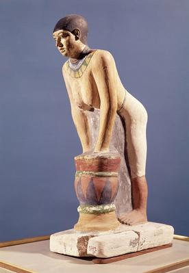 Model of a woman making beer, Old Kingdom