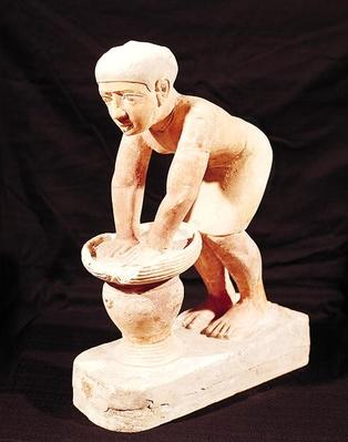 Model of a man making beer, from Saqqara, Old Kingdom