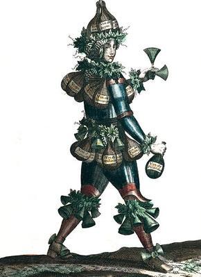 The Innkeeper, allegorical costume design