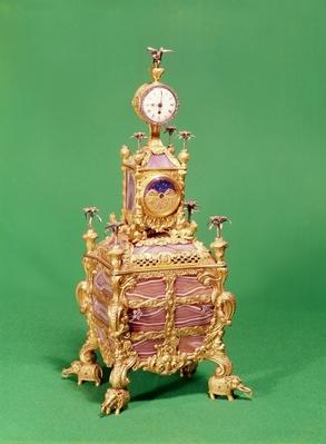 George III musical timepiece table clock, c.1766