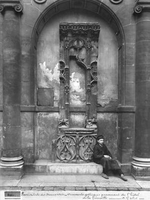 Young Boy Seated Outside the Ecole Nationale des Beaux-Arts, Paris, 1890-1900