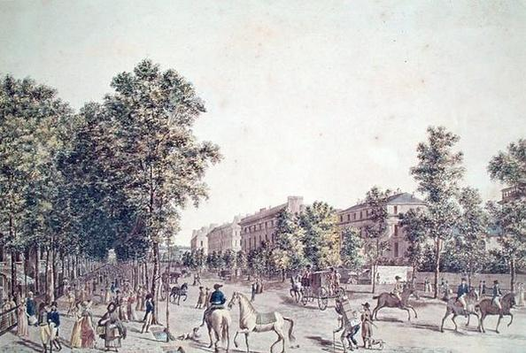 The Grands Boulevards in 1804