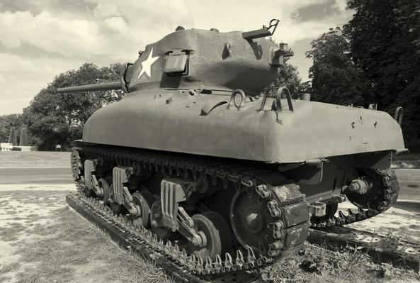 Tank in Colleville-sur-Mer, Normandy, France | World War II