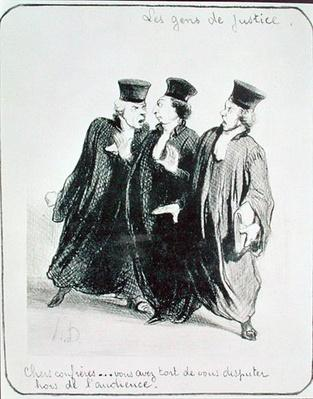 A Dispute Outside the Courtroom, from the series 'Les Gens de Justice' c.1846