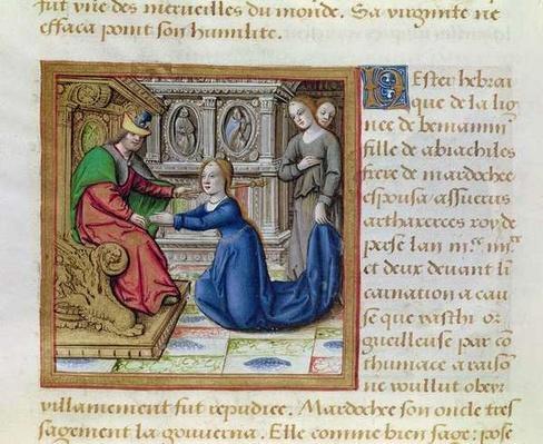 Ms 17 Esther, from 'Vie des Femmes Celebres', c.1505