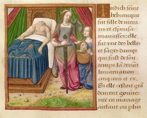 Ms 17 Judith, from 'Vie des Femmes Celebres', c.1505