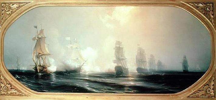 Naval Battle in Chesapeake Bay, 3rd September 1781, 1848
