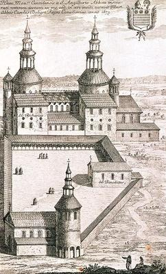 Plan of the Benedictine Abbey of Saint-Riquier in 1673