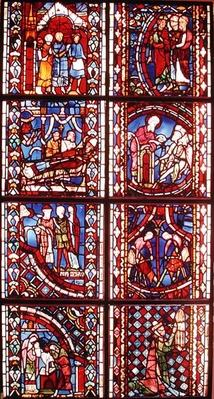 Window depicting the Legend of St. Nicolas