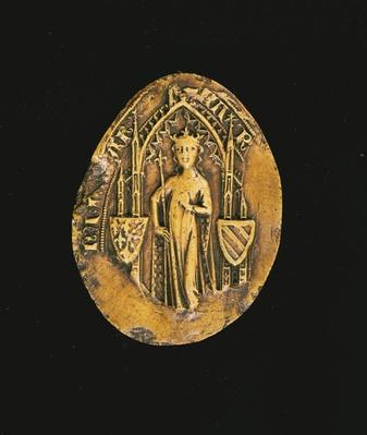 Seal of Marguerite de Bourgogne