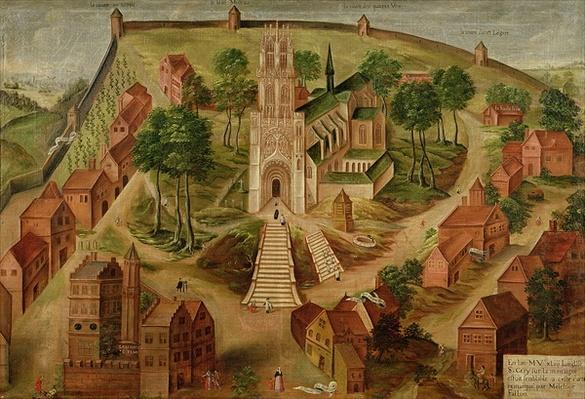 The Church of Saint-Gery, Cambrai, on the Mont des Boeufs, 1543