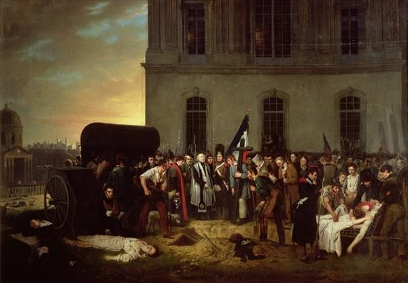Burial of the Victims of the July Revolution in Front of the Colonnade of the Louvre, 30th July 1830