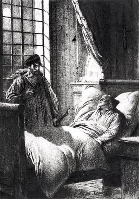 Illustration from 'Les Miserables' by Victor Hugo by Flameng, Francois (1856-1923)