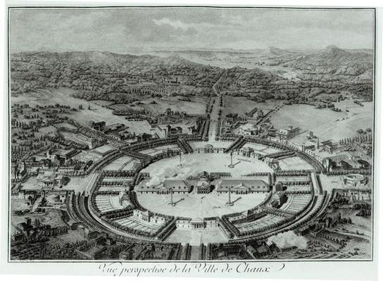 Perspective View of the Town of Chaux, c. 1804