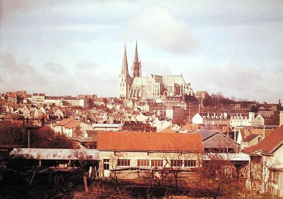Panoramic view of the town with the cathedral