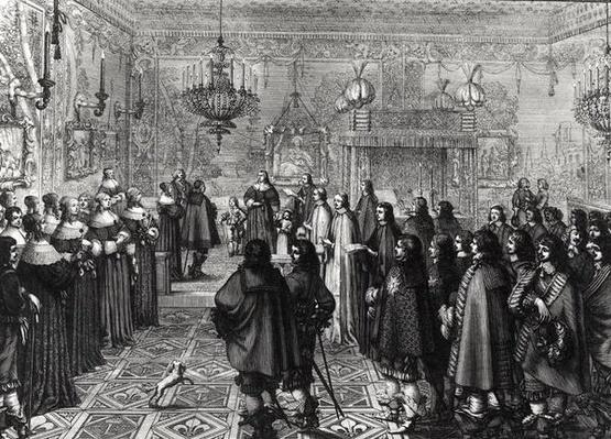Ceremony passing the marriage contract of Wladyslaw IV
