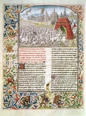 Ms t.4 fol.230 Battle of Nicopolis in 1396, facsimile of the Breslau manuscript, from 'Froissart's Chronicle', 1472