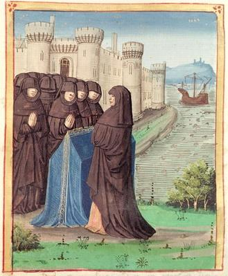 Ms 493 fol.142 Dido's Funeral, from 'The Aeneid' by Virgil with a commentary by Servius, 1469