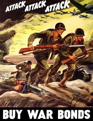 World War II propaganda poster of soldiers | World War II