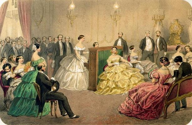 'Concert at the Chausee d'Antin', from the 'Soirees parisiennes' series