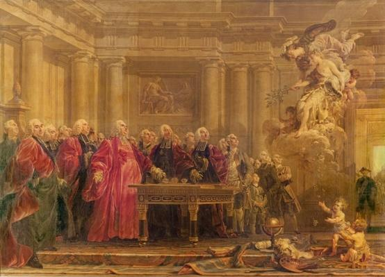 The Magistrates of Paris Receiving News of the Peace, 21st June 1763