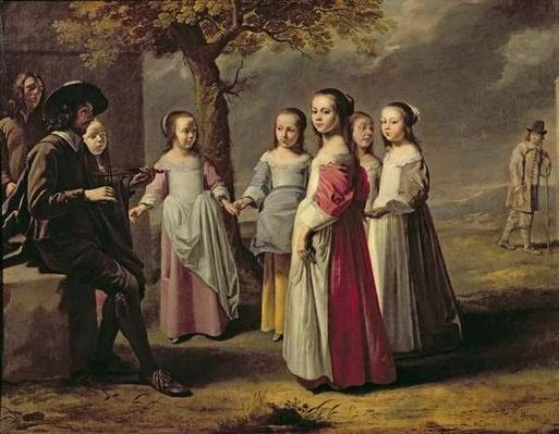 The Children's Dance by Le Nain, Mathieu (1607-77) (attr. to)