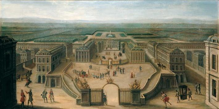 View of Versailles from the Place d'Armes