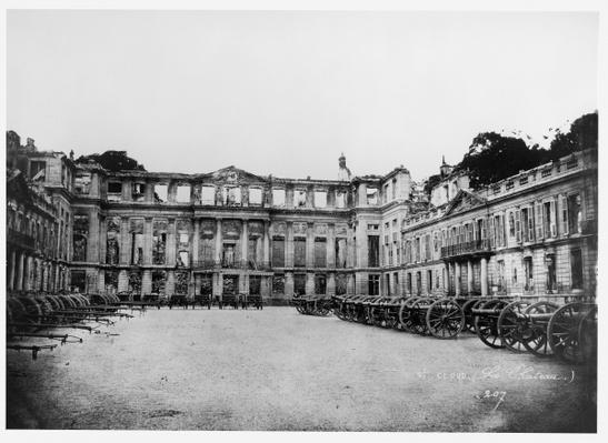 Cannons in the Courtyard of the Chateau de Saint-Cloud, 1870-1881