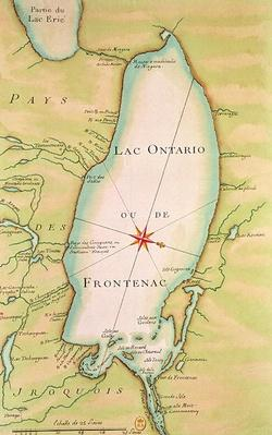 Map of Lake Ontario