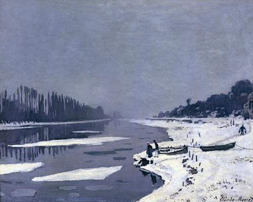 Ice floes on the Seine at Bougival, c.1867-68