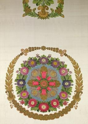 Seat cover by Bissardon, Cousin and Bony, Lyon, 1811