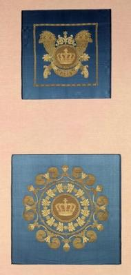 Seat backs by Grand-Freres of Lyons, 1811