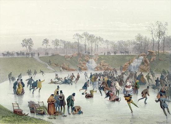 Skaters on the Lake at Bois de Boulogne