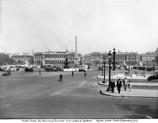 Place de la Concorde, designed in 1757
