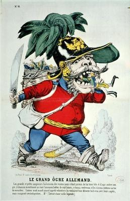 The Giant German Ogre, caricature of Otto von Bismarck