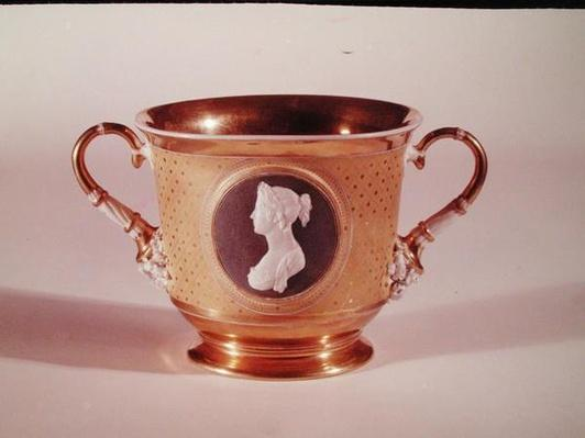 Sevres cup with a cameo portrait of Empress Josephine