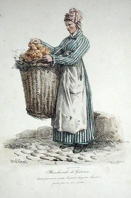 The Cake Seller, number 34 from 'The Cries of Paris' series, engraved by Francois Seraphin Delpech